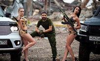 泳装美女在乌克兰机场废墟上拍写真