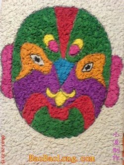 纸浆葫芦风景彩绘图片