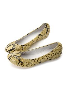 st&sat星期六 仿蛇纹平底鞋