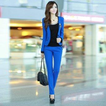 女装韩版修身短款小西装外套女式休闲套装
