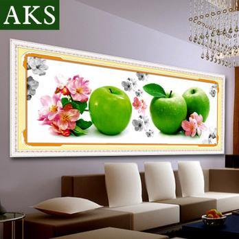 钻画苹果镶钻十字绣水果系列最新款餐厅diy贴砖石画