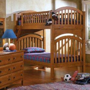美式实木儿童家具 新西兰松木多功能儿童阁楼床