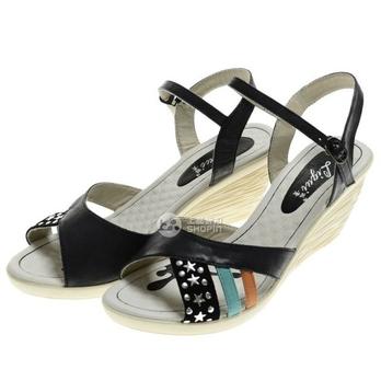 丽贵专柜正品女款真皮凉鞋lg1121-7235