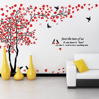 浪漫风景家饰亚克力水晶立体墙贴 客厅电视墙