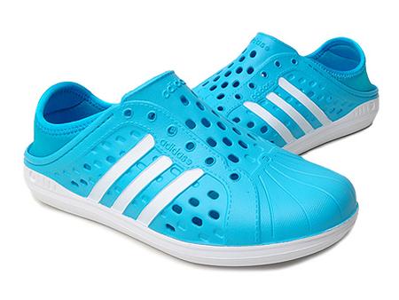 adidas neo 中性 潮牌经典洞洞套脚休闲凉鞋