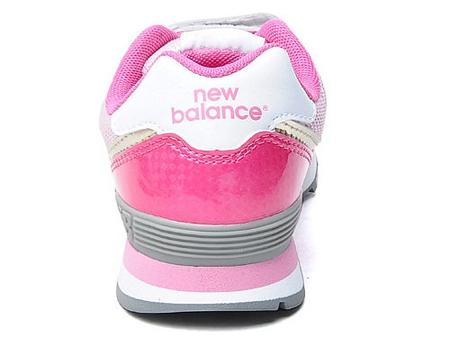 新百伦 魔术贴白色/粉红防臭减震运动鞋