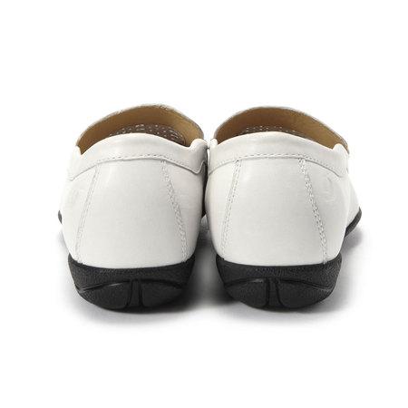 dupont白色牛皮鞋面穿孔女士平底休闲鞋