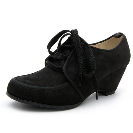 新款秋季 高跟硬底坡跟女单鞋11171001
