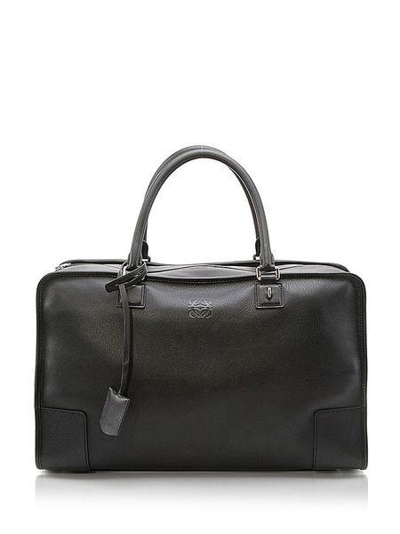 loewe罗意威黑色羊皮材质纯色男士手提包