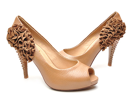 创意高跟鱼嘴单鞋