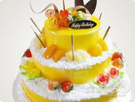 多层蛋糕 水果蛋糕 蛋糕送货上门聚会蛋糕三层生日蛋糕图片