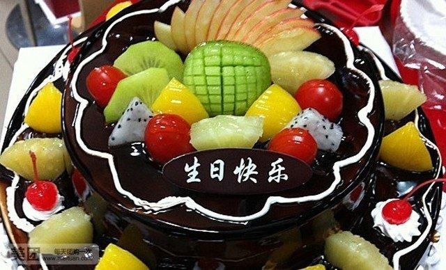 16+20寸双层欧式水果蛋糕