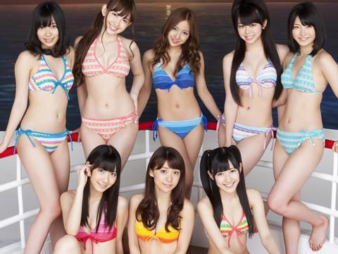 沙滩美女泳装派对