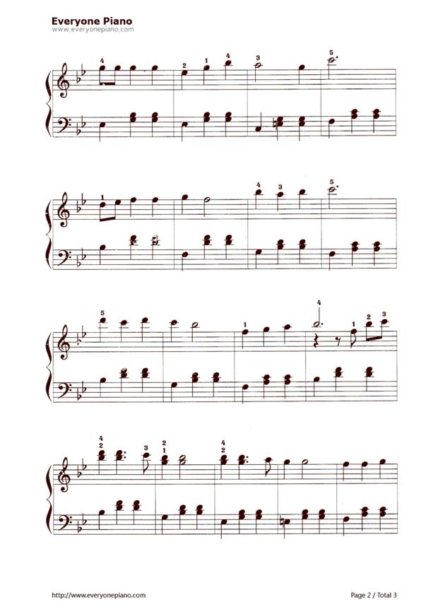 我们多么的幸福简谱翻译成乐谱