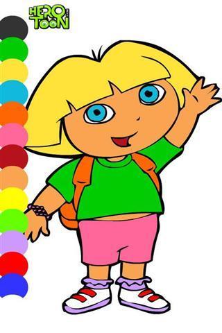 展开全部应用介绍 一款给多拉女孩上色的游戏,你可以将他们描绘为