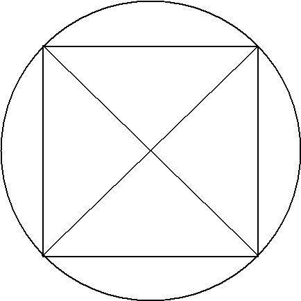 一个园里一个正方形正方形里有对角线线怎么一笔画出