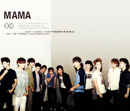 谁有exo m和exo k专辑封面合在一起的图片