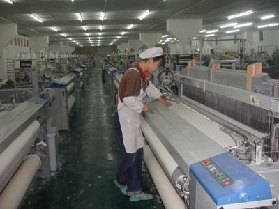 纺织企业生产组织结构图