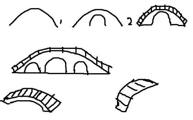 简单的桥梁怎么画