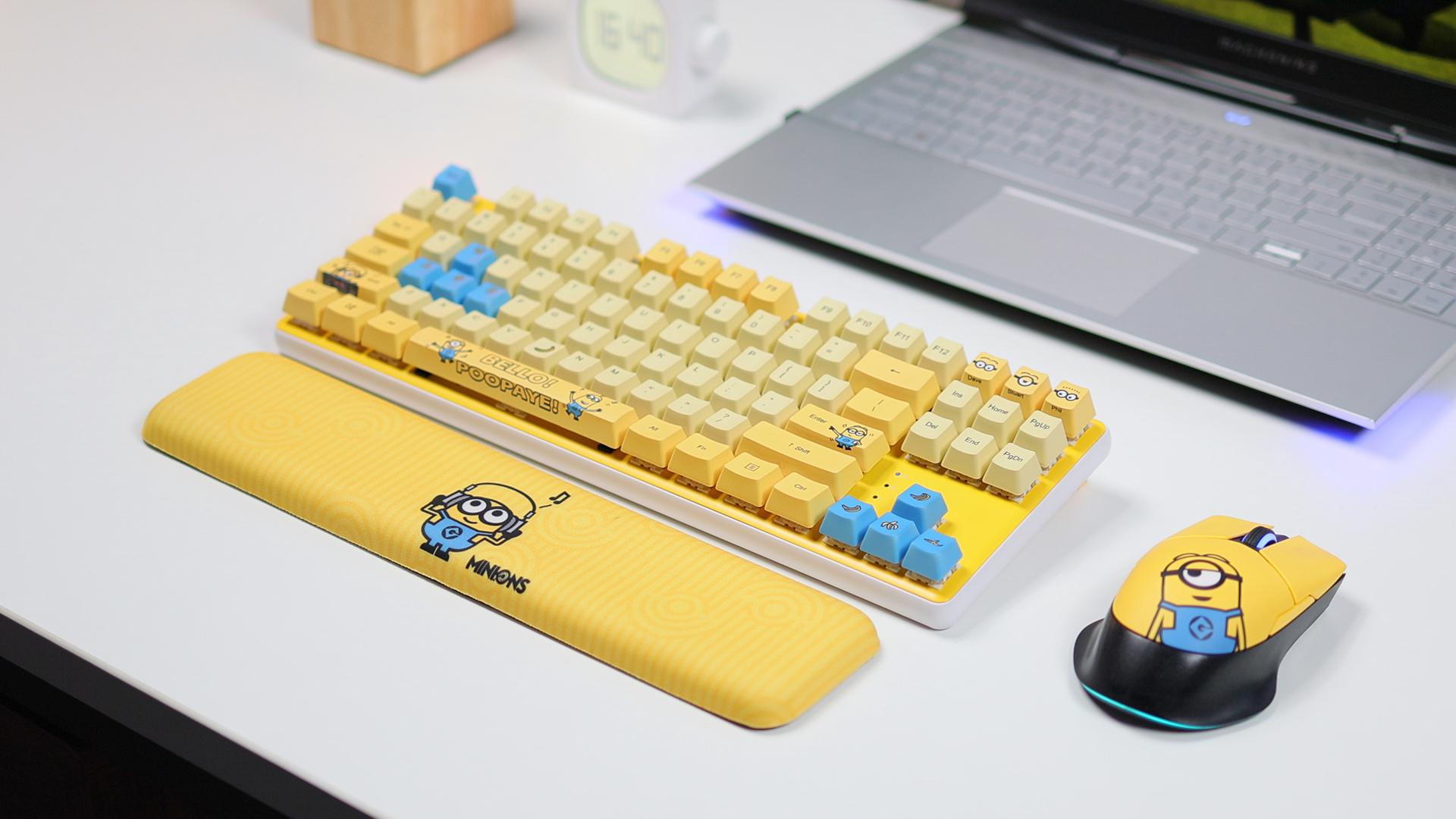 轻电科技 | 机械师小黄人联名键鼠套装体验