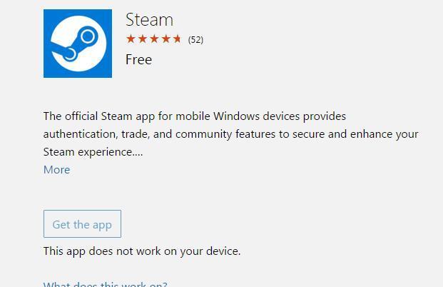 WP/WIN 10 Mobile版Steam应用