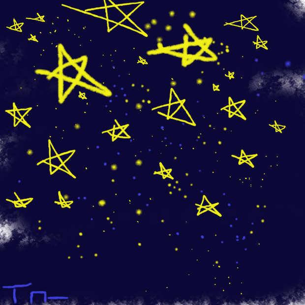 彩铅怎么画星空(图解)