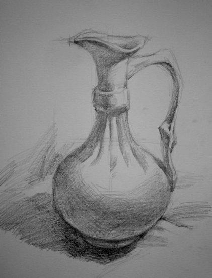 6年级课本关于花瓶的画铅笔画快