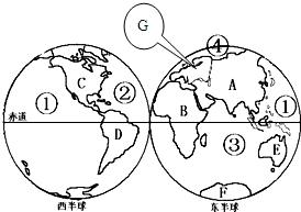 """读""""七大洲和四大洋轮廓图""""并回答"""