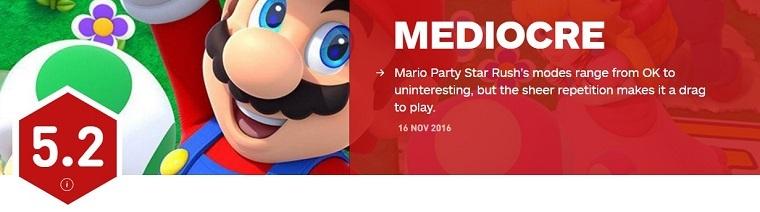 《马里奥派对:星星冲刺》IGN评分