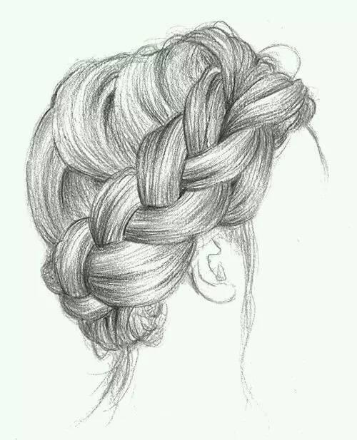 头发素描图片步骤图
