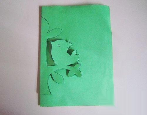 儿童趣味手工剪纸 大树和小鸟