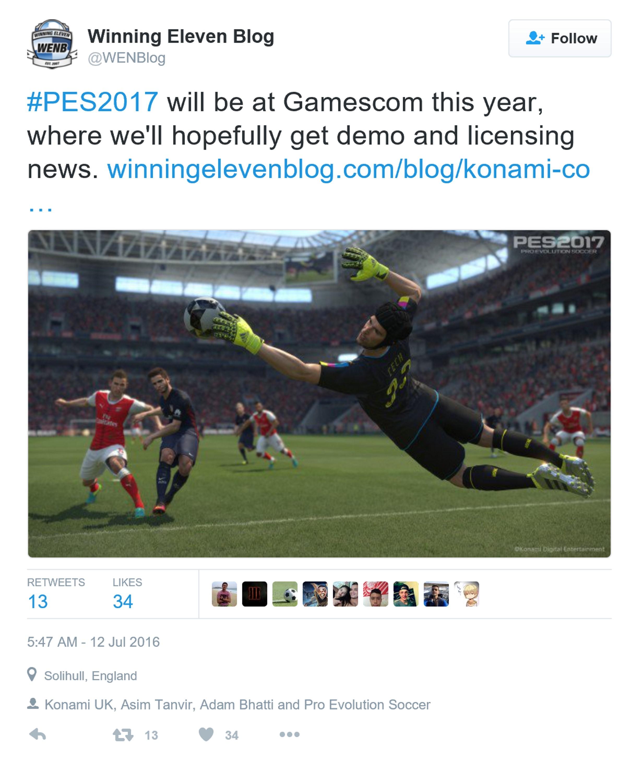 《实况足球2017》参加科隆展