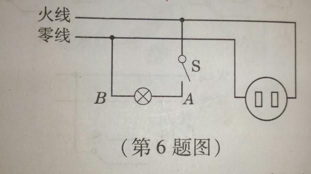 如图六,当此电路通路时,用试电笔检测b氖管会发光吗?