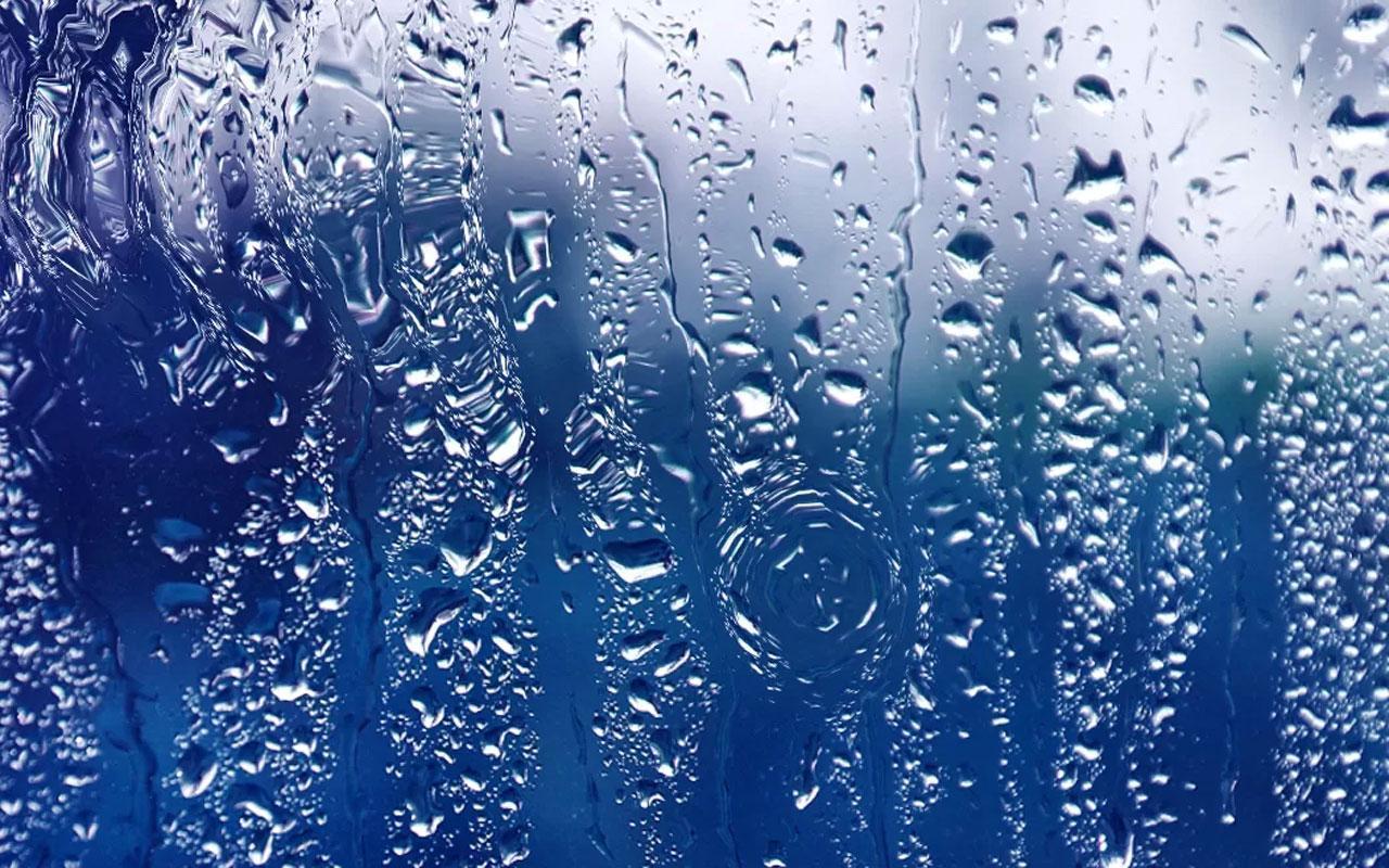 高清壁纸,雨季玻璃