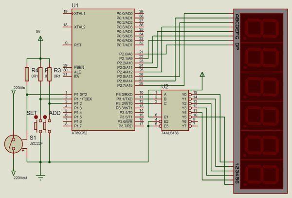 求89c51单片机控制继电器开关电源的电路图!