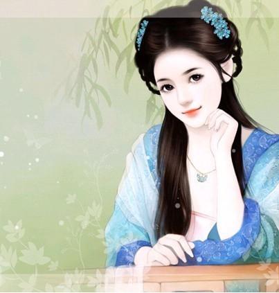 求古代美女丹青图