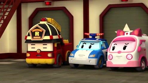 变形警车珀利交通安全篇:转弯路口 远离汽车