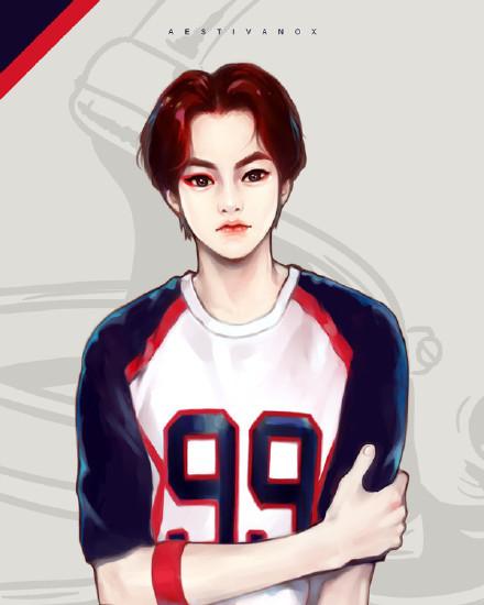 求exo的一套手绘图,手绘的衣服是love