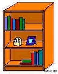 书柜上的书怎么画?简笔画图片