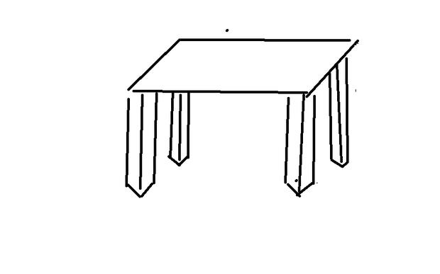 方形的桌子怎么画