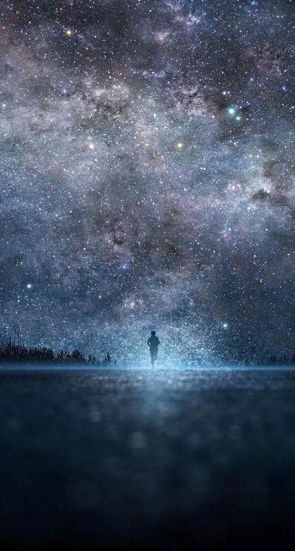 怎么用水粉画星空