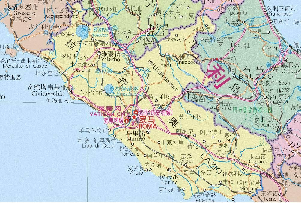 梵蒂冈 地图