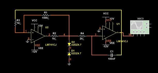关于方波三角波发生电路