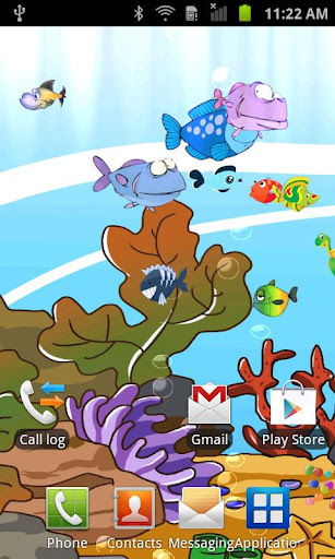 卡通水族馆动态壁纸