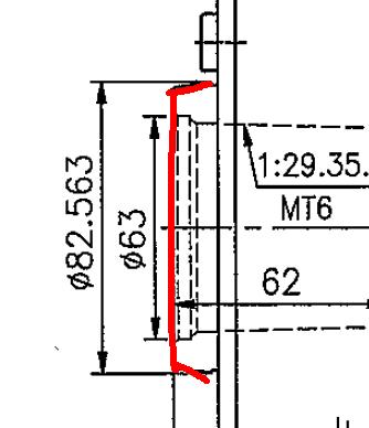 kt1605g的数控车床主轴,前端法兰锥度是什么规格的?