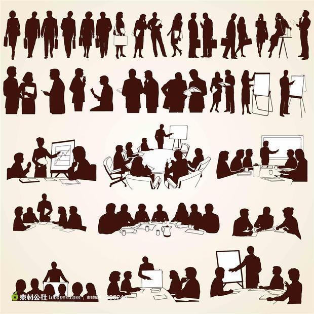 求一个人群的简笔画,画海报用的那种