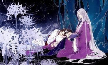 手绘古风紫衣女