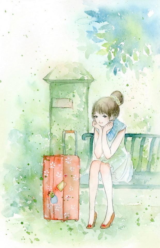 求一个小说封面图片!要一个青春少女的不要真人最好是
