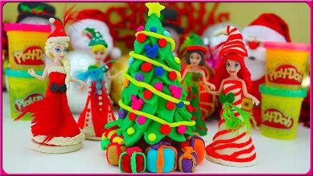 培乐多彩泥制作圣诞树礼物!
