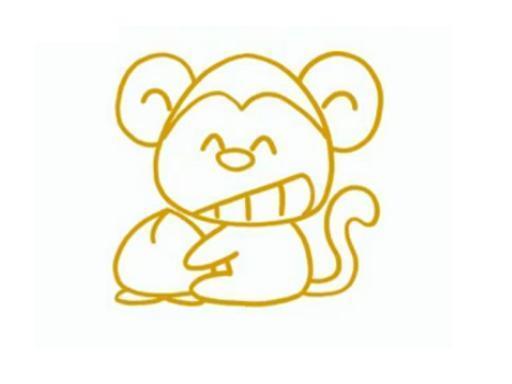 跪求卡通猴子的简笔画